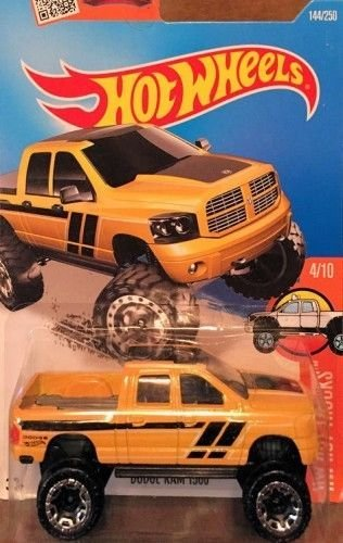 Hot Wheels, 2016 HW Hot Trucks, Dodge Ram 1500 [Yellow] #144/250