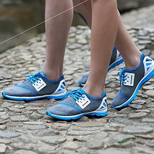 Mens im Freien zu Fuß Sneaker Slip-on Water Schuhe Blau