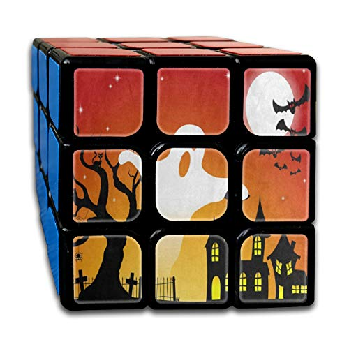 Rubiks Cube Halloween Ghost Tree Moon Designer Speed Cube 3x3 Smooth Magic Cube Puzzle Game -