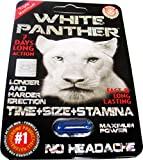 #1 White Panther STRONG man STAMINA enhancement pill 6 Pills