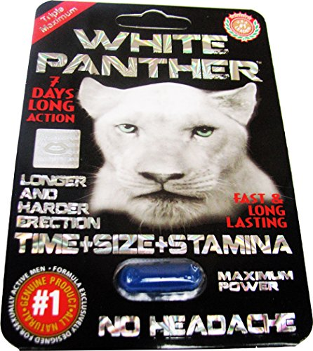#1 White Panther Strong Man Stamina Enhancement Pill 6 Pills (1) (Enhancement Male Performance Pill)