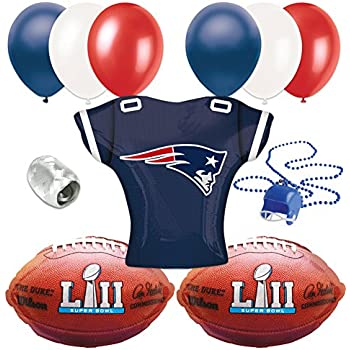 Super Bowl 53 New England Patriots Jersey Football Party 10pc Balloon Pack f7ebda91b