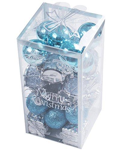 32pcs Shatterproof Xmas Balls Ornaments for Christmas Tree Branches Home Yard Decor Decoration