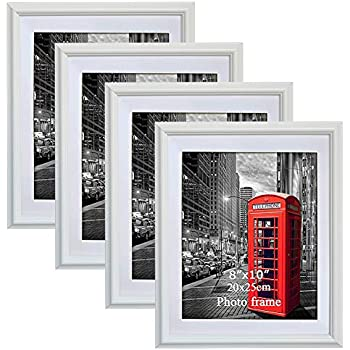 5e28d90bfa4 PETAFLOP 8x10 Picture Frames White 8 x 10 Decorative Poster Frame Wall  Display