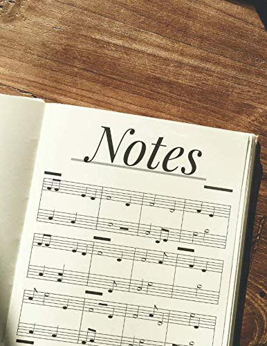 My Music Notebook: Blank Sheet Music Journal for Music Composition, Lyrics and Note writing. 12 Staves Per Page. Notes Theme