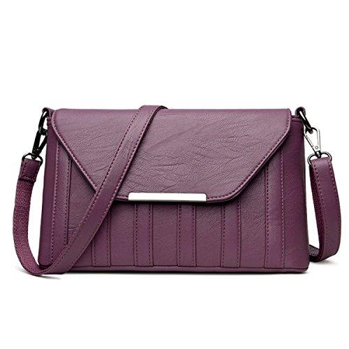 Wu Zhi Lady Mini Packet Shoulder Bag Messenger Bag Handbag Wild Summer Bag Mother Bag Purple