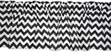 BabyDoll Chevron Window Valance, Grey
