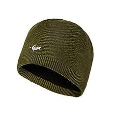 SEALSKINZ W/Proof Beanie Hat Olive L-XL, Large/X-Large