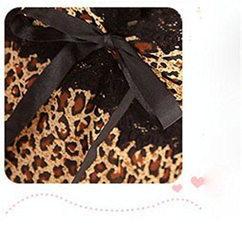 FUDUODUO Tejido De Alta Calidad, Impresión De Leopardo, Pijamas Ropa Interior