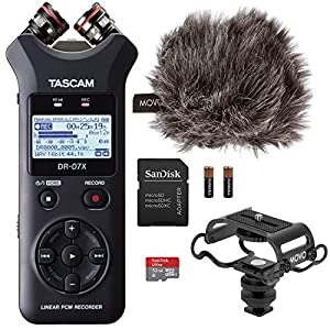 Tascam DR-07X Digital Audio Recorder Bundle w...