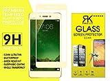 RKMOBILES Vivo V3 Max Screen Protector (3D Glass), Vivo V3 Max 3D Full Coverage Tempered Glass Screen Protector for Vivo V3 Max (Golden)
