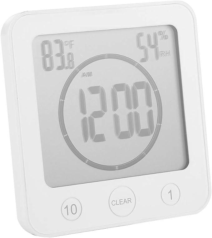 Badezimmer Duschuhr Silikon Wasserdichte Mini Uhr Zeit für Küche Bad