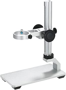 NA Microscope Camera Stand 50mm Ring Aluminium Alloy Microscope Camera Bracket Support for Lab