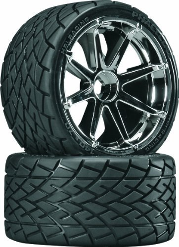HPI 4729 Phaltline Tyres on Blast Wheels (Chrome) - Pair by HPI Racing