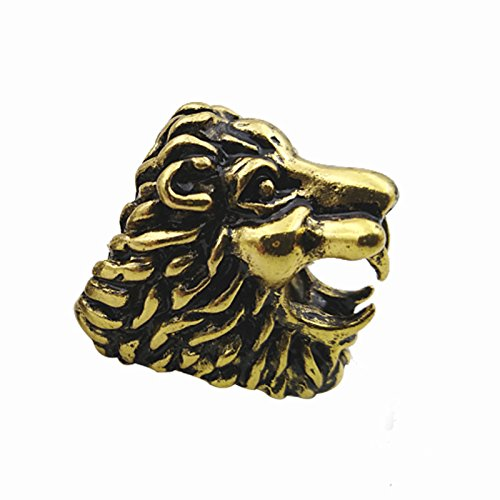 - SODIAL Lion Design Cigarette Holder Rack Finger Ring Cigarette Smoking Accessories-Gold