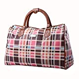 Crystalzhong Travel Duffel Hand Luggage Large-Capacity Mobile PU Leather Travel Bag  Travel Travel Leisure Bags Men and Women Travel Bags Multifunctional Bag Weekender Overnight Luggage (Size : M)