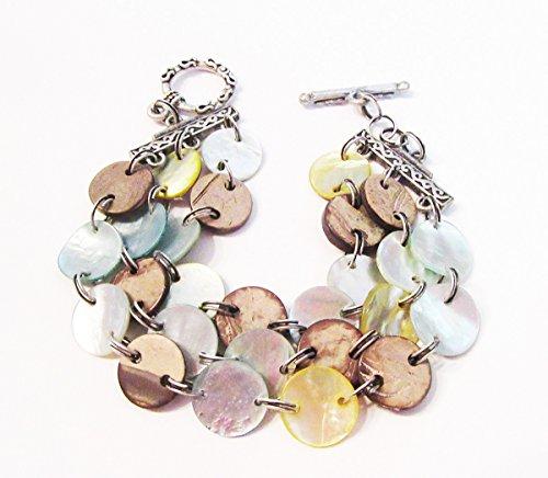 Lia Sophia Jewelry Aloha three strand Reversible MOP Bracelet