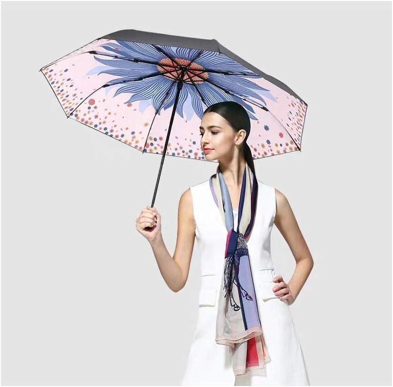 Kleiner schwarzer Sonnenschirm Sonnencreme UV-Sonnenschirm 30/% Frauen Wang Rilian Tragbarer Sonnenschirm UV-Schutz Damen Sonnenschirm Schwarz