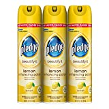 Best Furniture Polishes - Pledge Lemon Clean Furniture Spray 9.7 oz, 3 Review