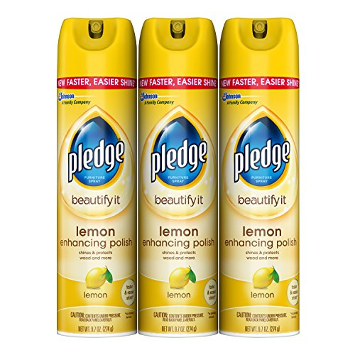 Pledge Lemon Enhancing Polish 9.7 oz, 3 ct - Pledge Dust