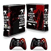 Mightyskins Protective Vinyl Skin Decal Cover for Xbox 360 S Slim + 2 controllers wrap sticker skins Kill Zombies