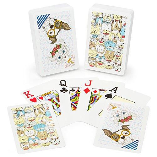 Copag Design Bridge (Copag Neo Pets 100% Plastic Playing Cards, Bridge Size, Jumbo Index)