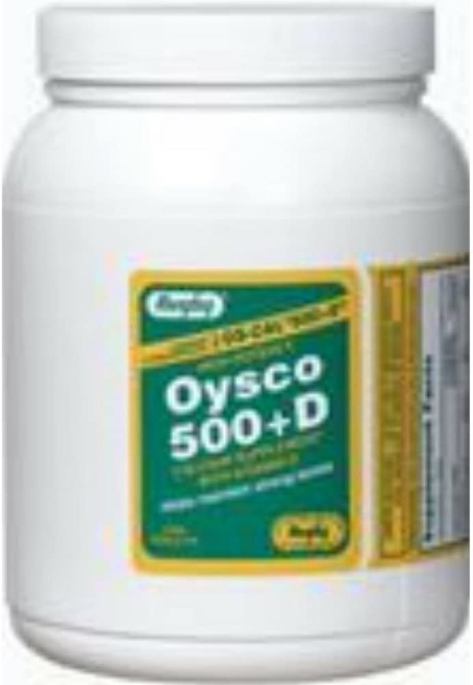 OYSCO 500+D TABS *RUG Size: 1000 by RUGBY LABORATORIES