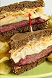 Reuben Sandwich on Pumpernickel Journal: 150 page lined notebook/diary