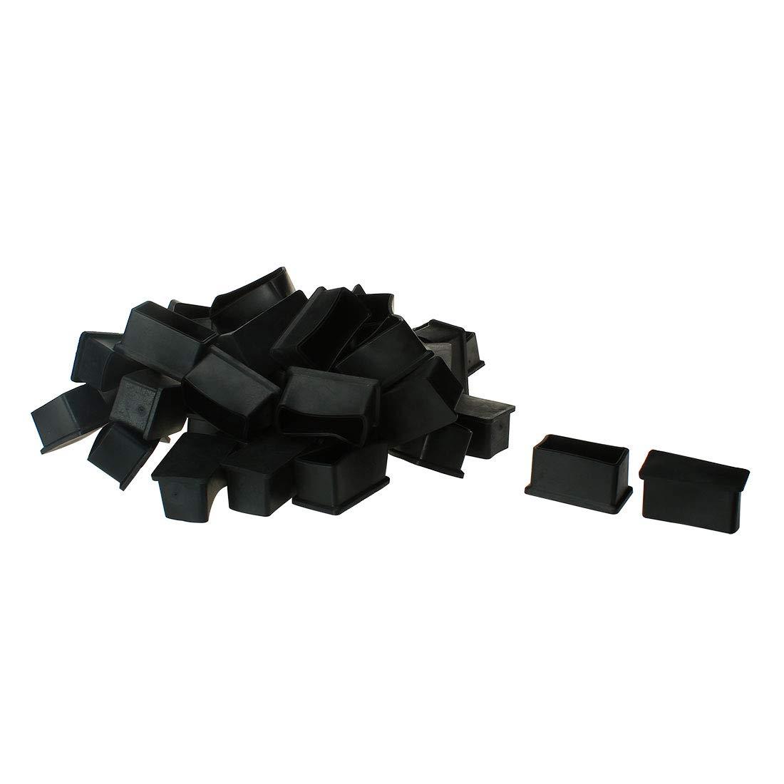 OKSLO Pvc leg caps tips feet covers 40x60mm inner size 50pcs antislip prevent scratch