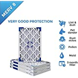 18x24x2 MERV 8 AC Furnace 2 Inch Air Filter - 4 PACK