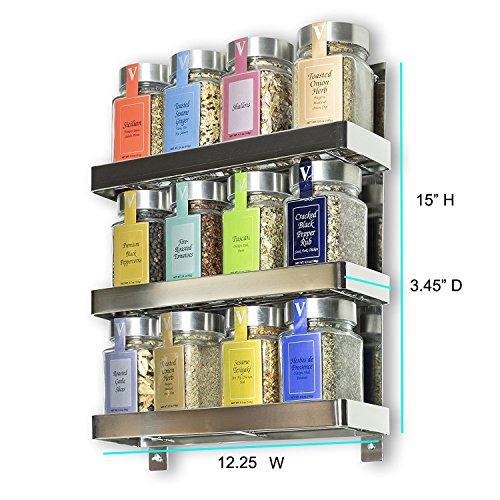 Stainless Steel Kitchen Spice Shelf Rack Kitchen Organizer