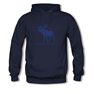 El logotipo de Abercrombie & Fitch para hombres impreso sudadera con capucha
