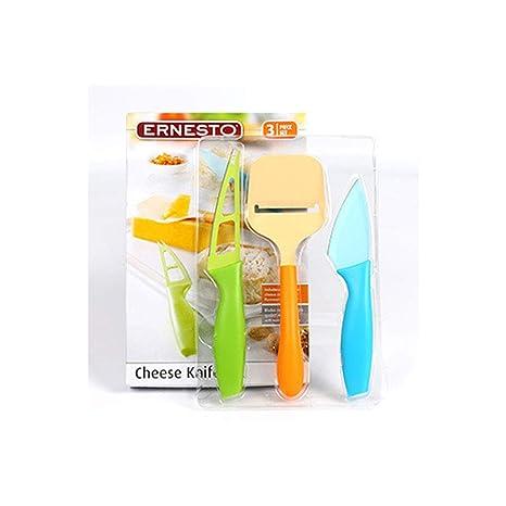 Qianming Cuchillos de Queso (3 Piezas): Amazon.es: Hogar