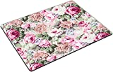 MSD Place Mat Non-Slip Natural Rubber Desk Pads Design: 32540385 Rose Fabric Background Fragment of Colorful Retro Tapestry Textile Pattern with Floral Ornament Useful as