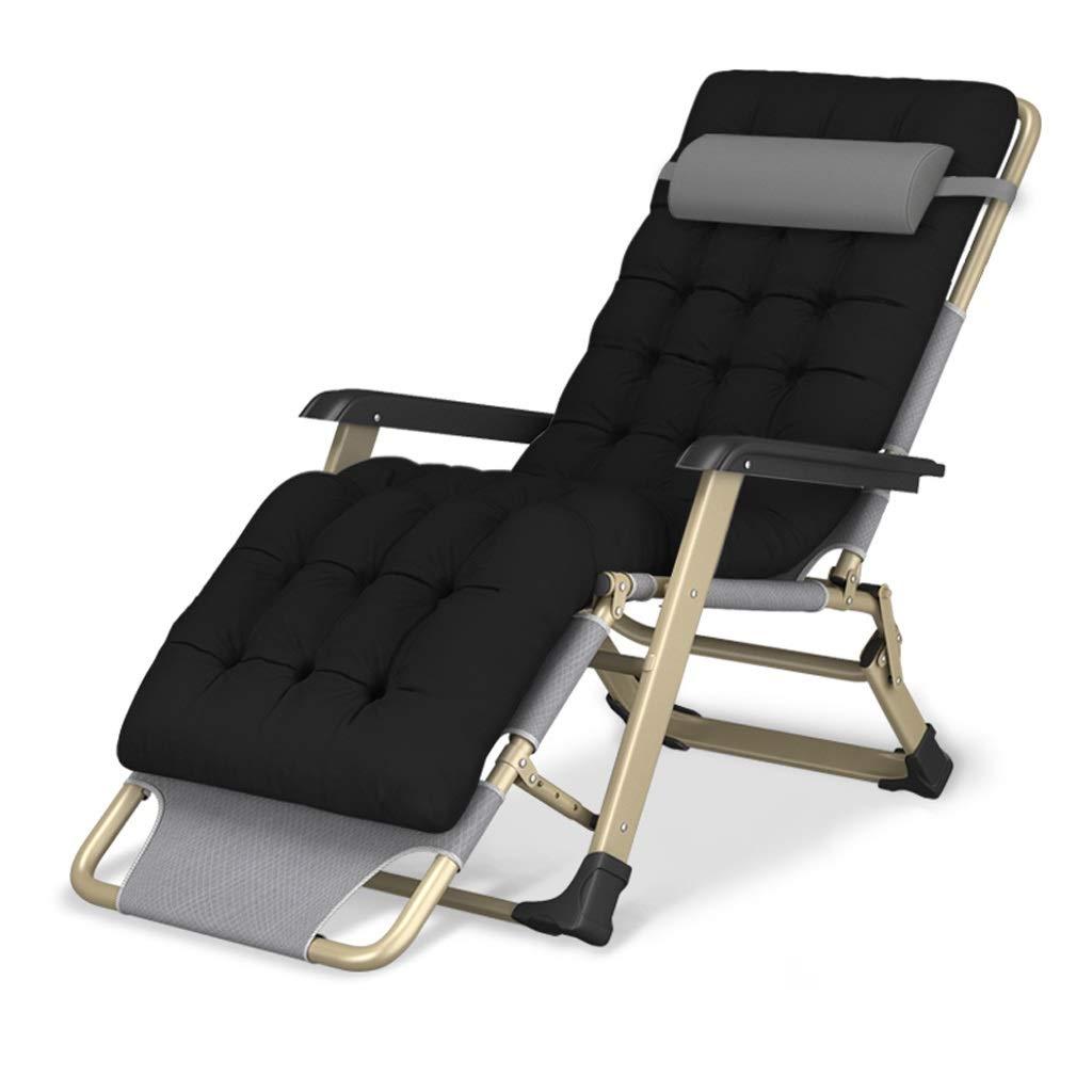 折り畳み式デッキチェア折りたたみベッド携帯用旅行折りたたみ椅子キャンプチェアビーチサンラウンジャーパティオ庭園湖畔レジャーチェア (Color : B+cushion) B07SMV8PV3 B+cushion