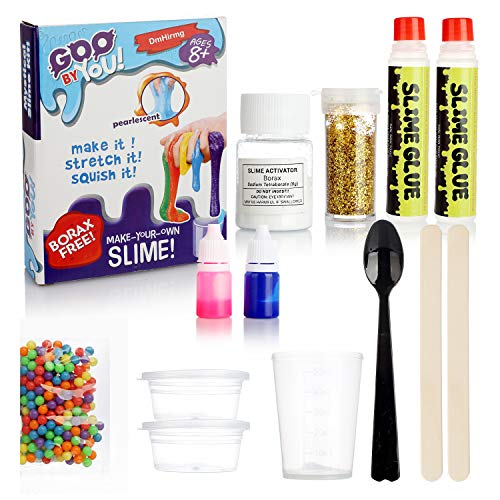 DmHirmg Slime Making Kit for Girls,DIY Slime Kit for Girls How to Make Slime Kit by Yourself with All The Safety Accessories Needed in Slime Making
