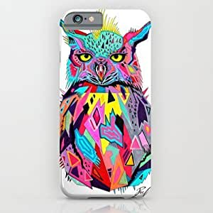 Customized slim and lightweight PB-ii CASE,-abstract Owl- iPhone 6 Case by PeeGeeArts