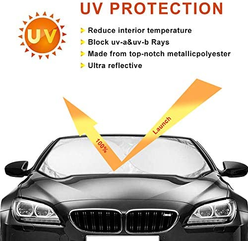 Keyohome Car Sun Shade Rear Front Window Shade Side Window Sunshade Baby 6pcs,Car Window Shades for Baby UV Protection Car Window Visor for Most Vehicles