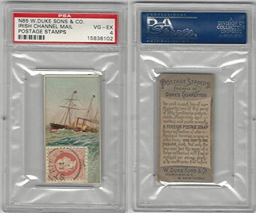 N85 Duke, Postage Stamps, 1889, Irish Channel Mail, PSA 4 VGEX