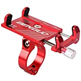 Lljin Bicycle Bike Phone Mount Bracket Holder Clip Handlebar Phone Holder (Red)