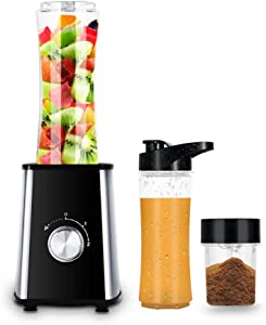 ALK Updated Version Professional Personal Countertop Blender for Milkshake, Fruit Vegetables Drinks, Ice, Blenders Processor Shake Mixer Maker with Cup for Home Kitchen, 21 Ounce.(300W)