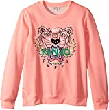 Kenzo Kids Girl's Sweat Classic Tiger (Big Kids) Neon Corail 14