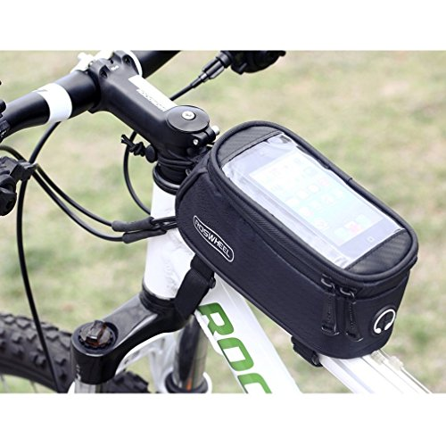 40116d51a80 Bicycle Frame Front Tube Beam Bag Transparent PVC Cycling Pannier Pouch  Basket ...