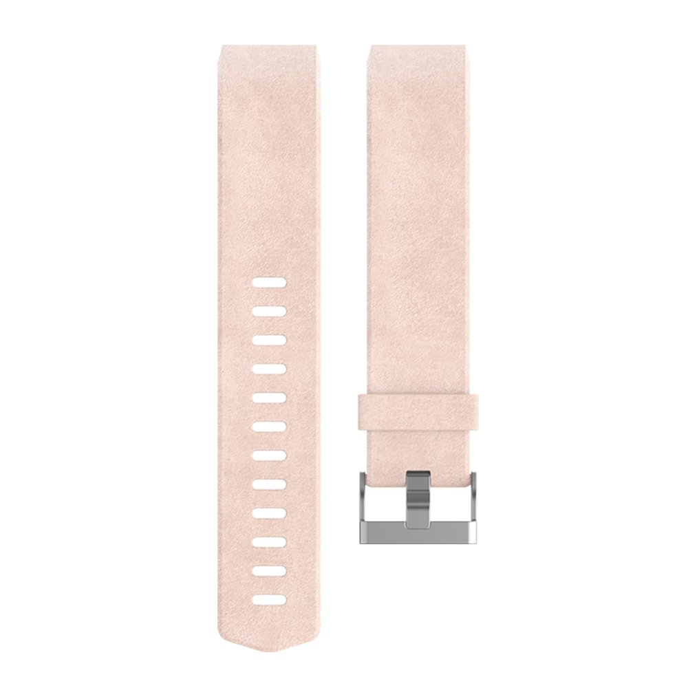 Fitbit Charge 2 Accessory Band, Leather, Blush Pink, Small