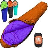 Hyke & Byke 800 Fill Power Goose Down Sleeping Bag for Backpacking – Eolus 15 &