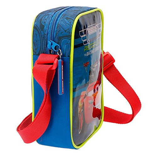 Disney Racing Series Borsa Messenger, 20 cm, 1.8 liters, Blu (Azul)