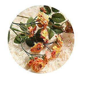 14 Heads Artificial Silk White Snowflake Small Lilac Flowers Babysbreath for Wedding Home Decoration Gypsophila Christmas Decor Orange 41