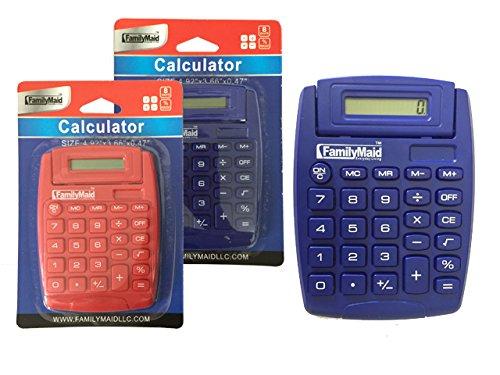 CALCULATOR 5''X3.66''X4.75''TILT BLUE RED CLR , Case of 96