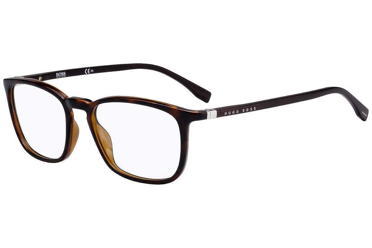 Hugo Boss 0961 Eyeglasses 51-18-145 Dark Havana w//Demo Clear Lens 086