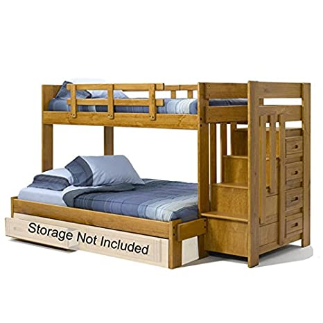 Amazon Com Chelsea Home Furniture 36154w Twin Over Full Bunk Bed